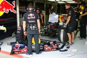 Webber was allowed to keep his wing