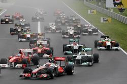 Inicio de la carrera, Jenson Button, de McLaren Mercedes