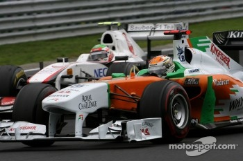 Adrian Sutil, Force India and Sergio Perez, Sauber F1 Team