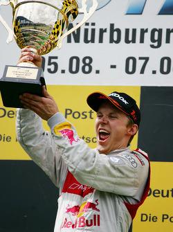Podium: race winner Mattias Ekström, Audi Sport Team Abt
