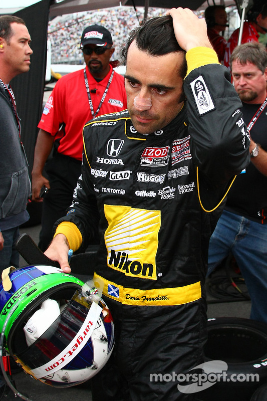 Dario Franchitti, Target Chip Ganassi Racing after his crash