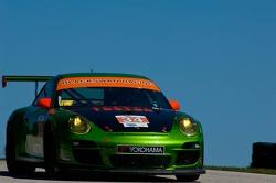 #34 Green Hornet/ Black Swan Racing Porsche 911 GT3 Cup: Peter LeSaffre, Jaap van Lagen
