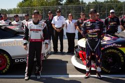 Penske Racing photoshoot: pole winner Jacques Villeneuve, Penske Racing Dodge and second place Alex Tagliani, Penske Racing Dodge