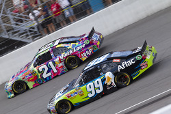 Trevor Bayne and Carl Edwards, Roush Fenway Racing Ford