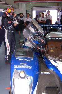 Kimi Raikkonen tests the Peugeot 908