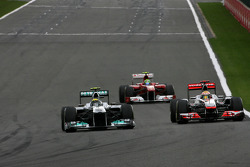 Nico Rosberg, Mercedes GP and Jenson Button, McLaren Mercedes