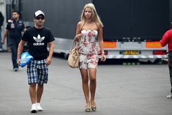 Timo Glock, Marussia Virgin Racing, Isabell Reis girlfriend of Timo Glock