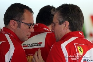 Stefano Domenicali Ferrari General Director, Pat Fry Ferrari technical director