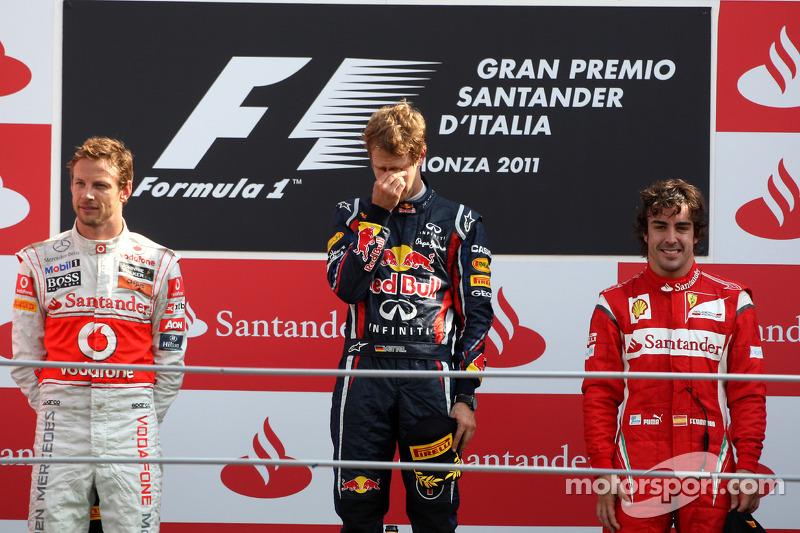 2011: 1. Sebastian Vettel, 2. Jenson Button, 3. Fernando Alonso
