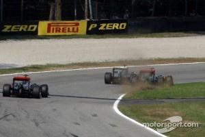 Schumacher on the limit at Monza