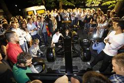 Romain Grosjean on the Pirelli simulator