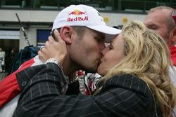 Martin Tomczyk, Audi Sport Team Phoenix Audi A4 DTM get a kiss from Christina Surer