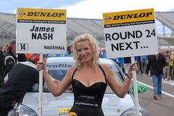 Triple 8 Racing grid girl to James Nash