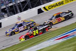 Jeff Gordon, Hendrick Motorsports Chevrolet, Martin Truex Jr., Michael Waltrip Racing Toyota, Jeff Burton, Richard Childress Racing Chevrolet