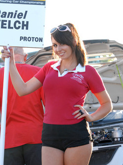 Welch Motorsport Grid Girl to Dan Welch