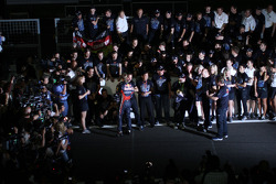 Sebastian Vettel, Red Bull Racing, Christian Horner, Red Bull Racing, Sporting Director and Adrian Newey, Red Bull Racing, Technical Operations Director
