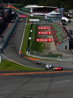 First lap at Eau Rouge, #35 Ferrari 246S: Bobby Verdon-Roe