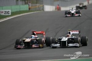 Sebastien Buemi, Scuderia Toro Rosso and Pastor Maldonado, Williams F1 Team
