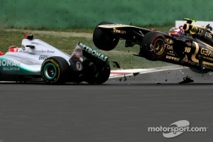 Schumacher never saw Petrov until he crashed into his Mercedes