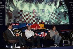 2011 champion Sebastian Vettel returns to Red Bull headquarters