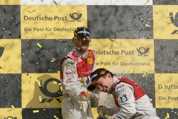 Championship Podium, Martin Tomczyk, Audi Sport Team Phoenix, Audi A4 DTM and Mattias Ekström, Audi Sport Team Abt, Audi A4 DTM