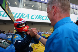 Alain Menu, Chevrolet Cruze 1.6T, Chevrolet race winner and Eric Neve, Chevrolet Europe Motorsport Manager