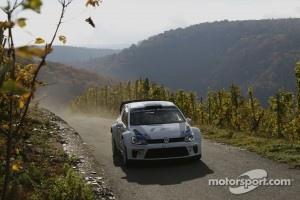 Carlos Sainz testing the Polo R WRC