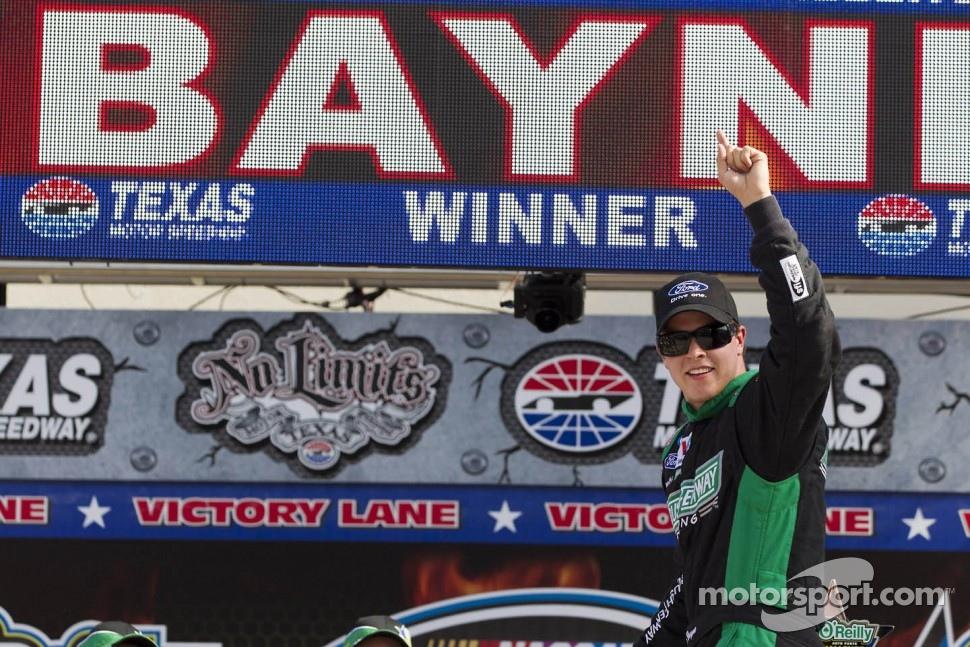Victory lane: race winner Trevor Bayne