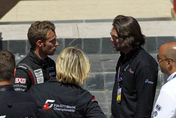 Team Hexis manager Philippe Dumas and Stephane Ratel