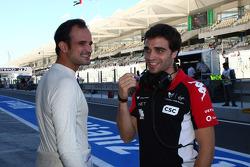 Vitantonio Liuzzi, HRT F1 Team and Jerome d'Ambrosio, Marussia Virgin Racing