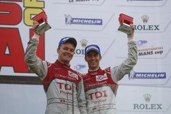 Podium: third place Marcel Fässler, Timo Bernhard