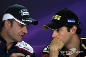 Rubens Barrichello and Bruno Senna