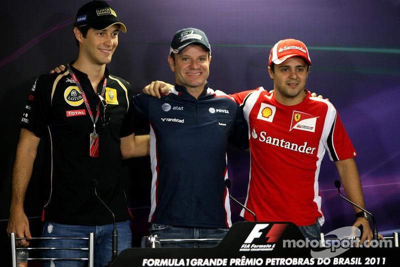 Bruno Senna, Renault F1 Team, Rubens Barrichello, Williams F1 Team and Felipe Massa, Scuderia Ferrar