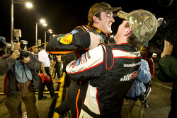 NASCAR Camping World Truck Series 2011 champion Austin Dillon, RCR Chevrolet celebrates with Ty Dillon at the moment the race is declared over