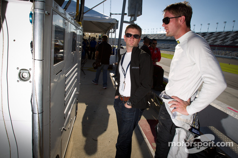 Ryan Hunter-Reay en Allan McNish