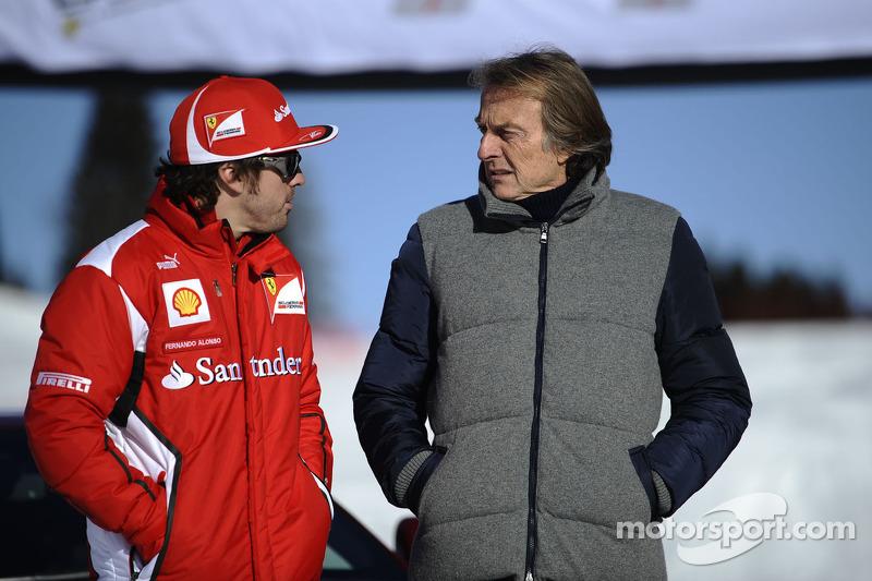 Fernando Alonso en Luca di Montezemolo