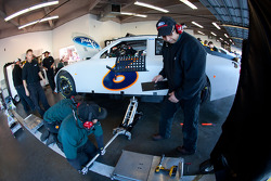 Roush Fenway Racing Ford team members at work