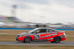 #75 Compass360 Racing Honda Civic SI: Ryan Eversley, Ray Mason