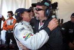 Brian Johnson with Carlos de Quesada after his last stint