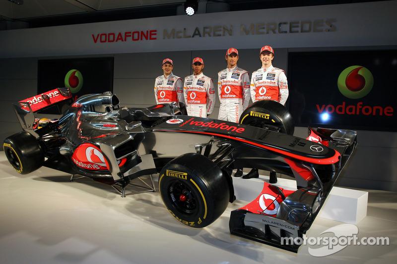 Gary Paffett, McLaren Mercedes en Jenson Button, McLaren Mercedes