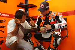 Casey Stoner with Loris Capirossi