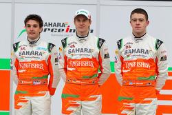 Пол ди Реста, Нико Хюлькенберг и Жюль Бьянки. Презентация Sahara Force India VJM05, Презентация.