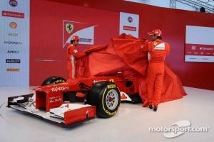 Fernando Alonso and Felipe Massa when they revealed the Ferrari F2012