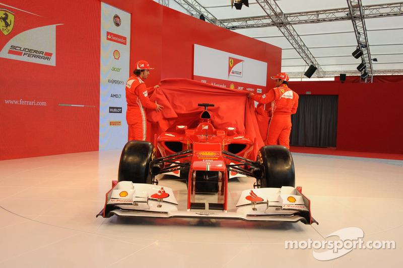 Fernando Alonso and Felipe Massa reveal the Ferrari F2012