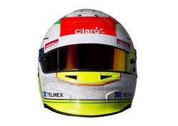 Sergio Perez, Sauber F1 Team, kask