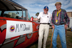 Living legends of auto racing street parade: Russ Truelove and oldest living NASCAR driver Mac McDonald