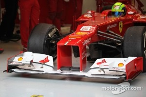 F2012 front wing and nose cone.