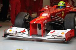 Ferrari voorvleugel en neus