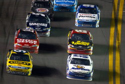 Marcos Ambrose, Richard Petty Motorsports Ford and Mark Martin, Michael Waltrip Racing Toyota