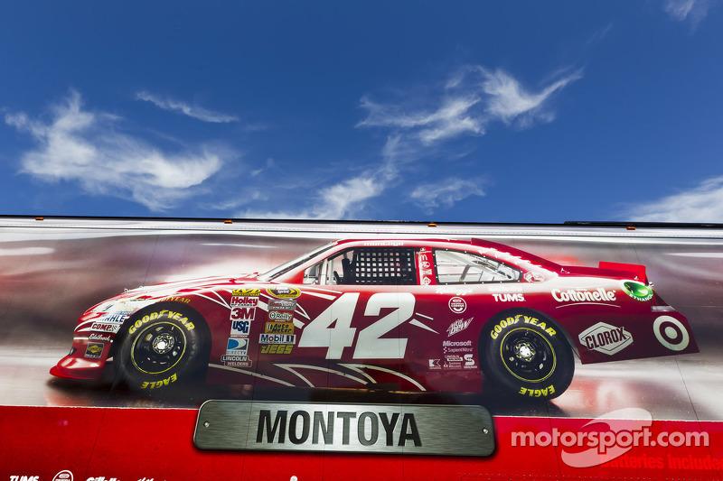 The hauler of Juan Pablo Montoya, Earnhardt Ganassi Racing Chevrolet